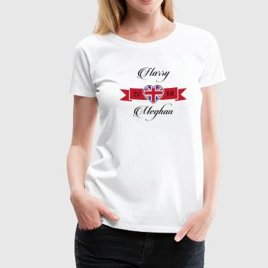 Harry Loves Meghan Union Jack Typography - Women's Premium T-Shirt