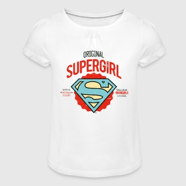 DC Comics  Logo Problem Solver - T-shirt à fronces au col Fille