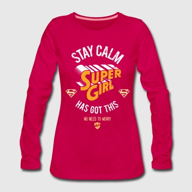 DC Comics Stay Calm  Has Got This - Långärmad premium-T-shirt dam