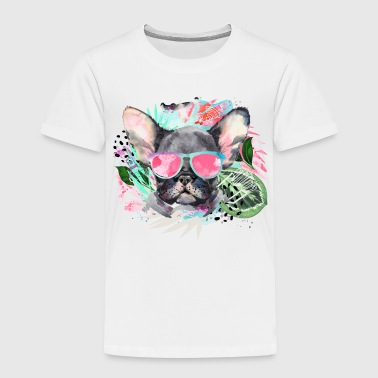 Animal Planet Coole Frenchie Mit Sonnenbrille - Kinder Premium T-Shirt