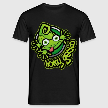 01 Horny Gecko Logo - Men's T-Shirt