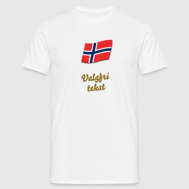 Hvit Norwegian flag T-skjorter - T-skjorte for menn