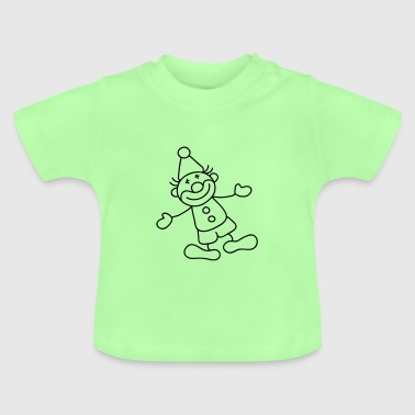 Mint green Sweet Little clown Baby Shirts  - Baby T-Shirt