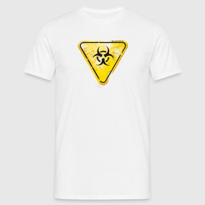 offground triangle sand biohazard damaged - Männer T-Shirt