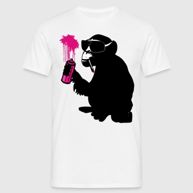 graffiti monkey  - Männer T-Shirt