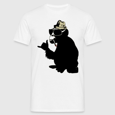 cool smoking monkey T-Shirts - Männer T-Shirt
