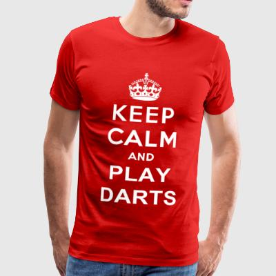 Keep Calm Play Darts - Men's Premium T-Shirt