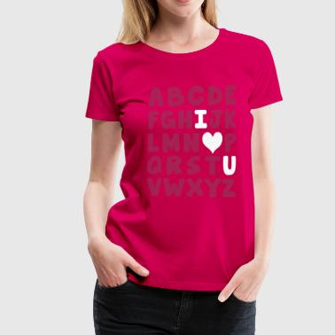 I heart U alphabet - Women's Premium T-Shirt