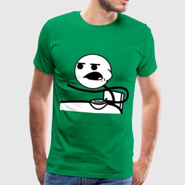 Cereal Guy Meme T-Shirts - Men's Premium T-Shirt