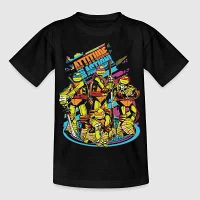 TMNT Turtles Attitude For Action - Teenage T-shirt