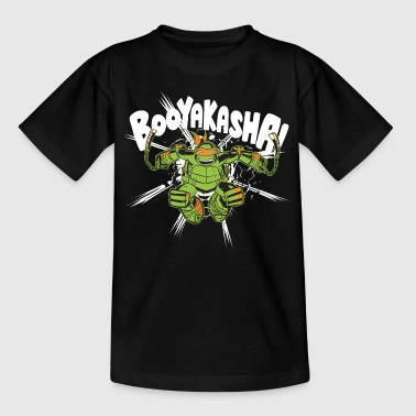 TMNT Turtles Michelangelo Ruft Booyakasha - Teenager T-Shirt