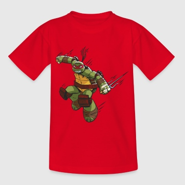 TMNT Turtles Raphael Greift An - Teenager T-Shirt