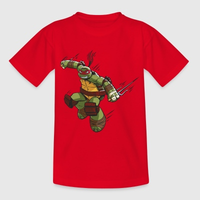TMNT Turtles Raphael Ready For Action - Teenage T-shirt