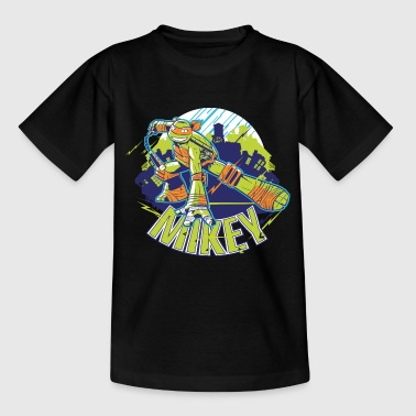 TMNT Turtles Mikey Kämpft Mit Nunchakus - Teenager T-Shirt