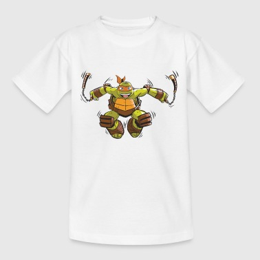 TMNT Turtles Michelangelo Ready For Action - T-shirt tonåring