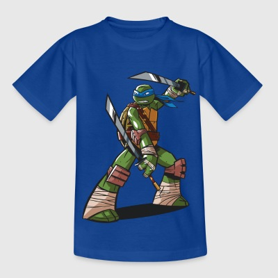 Tortues Ninja Leonardo À L'Attaque - T-shirt Ado