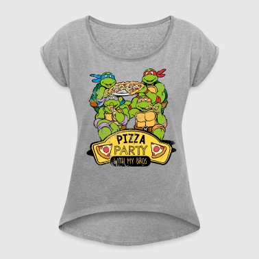Tortues Ninja Pizza Party With My Bros - T-shirt à manches retroussées Femme