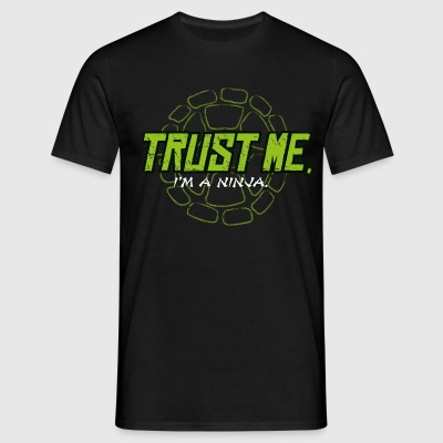 TMNT Turtles Trust Me I'm A Ninja Shield - Camiseta hombre