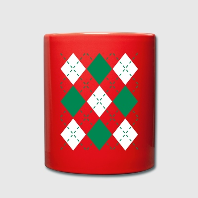 Ugly Argyle lozenges pattern Christmas sweater Mugs & Drinkware - Full Colour Mug