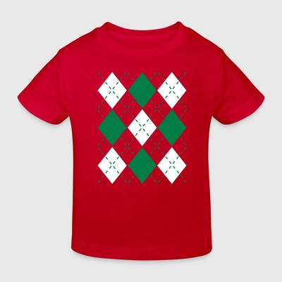 Ugly Argyle lozenges pattern Christmas sweater T-shirts - Ekologisk T-shirt barn