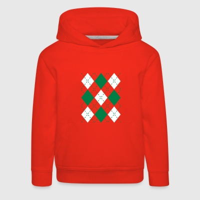 Ugly Argyle lozenges pattern Christmas sweater Pullover & Hoodies - Kinder Premium Hoodie
