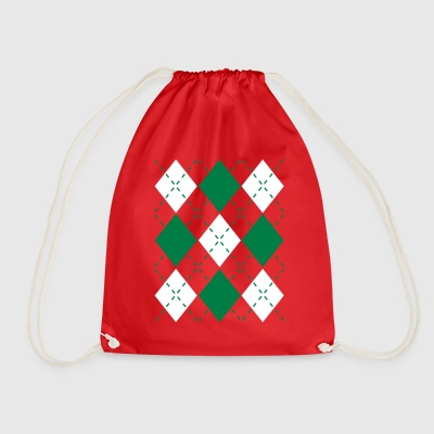 Ugly Argyle lozenges pattern Christmas sweater Bags & Backpacks - Drawstring Bag