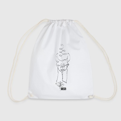 Animal Planet Abstract Llama Illustration - Drawstring Bag
