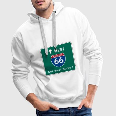 Route 66 Hooded Shirt - Men's Premium Hoodie