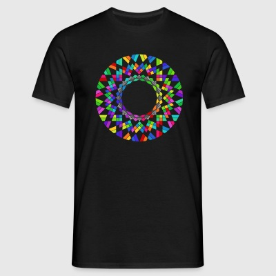 Rainbow flower T-shirts - Mannen T-shirt