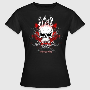Burning Skull - Frauen T-Shirt