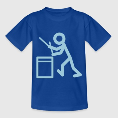 Drummers stick figure Kids' Shirts - Teenage T-shirt
