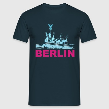 T-Shirt Mann Quadriga Berlin © by kally ART® - Männer T-Shirt