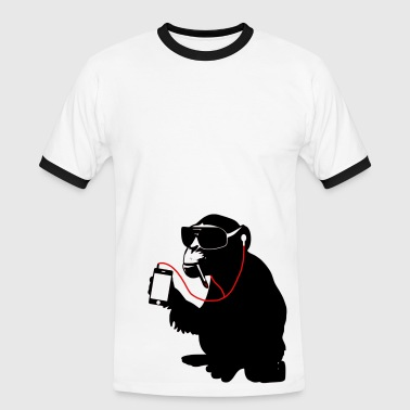music monkey - Männer Kontrast-T-Shirt