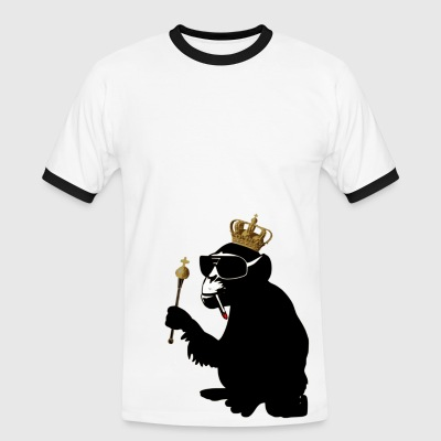 monkey hero  - Männer Kontrast-T-Shirt