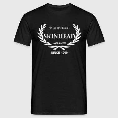 Old School Skinhead Anti-Racist Since 1969 (weisser Druck) - Männer T-Shirt
