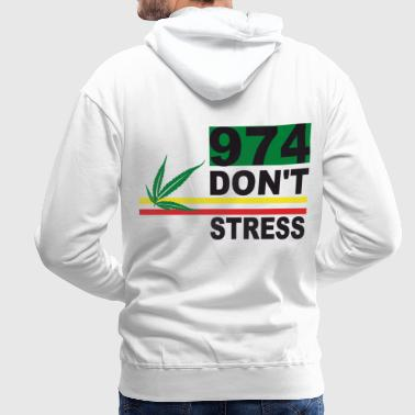 Sweat-shirt 974 don't stress -  Rasta - Sweat-shirt à capuche Premium pour hommes