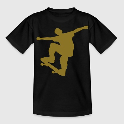 skateboard x games logo sport skate board Børne T-shirts - Teenager-T-shirt