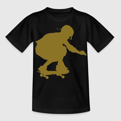 skateboard skate board x games sport skater Børne T-shirts - Teenager-T-shirt