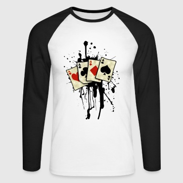 poker cards design Tee shirts manches longues - T-shirt baseball manches longues Homme