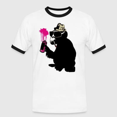 graffiti monkey T-Shirts - Männer Kontrast-T-Shirt