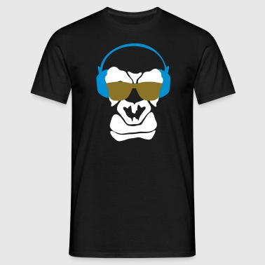 headphone monkey T-Shirts - Männer T-Shirt