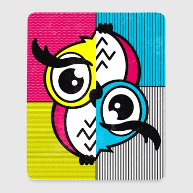 Eule (Pop Art) 01 - Mousepad (Hochformat)