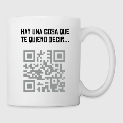 Blanco quierodivorcio regalo - Taza