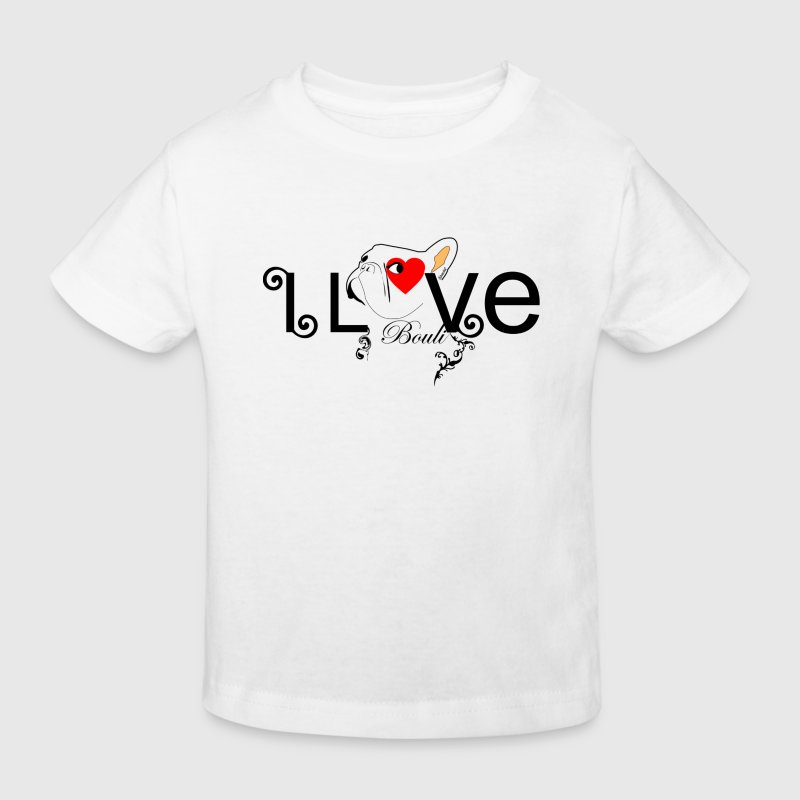 Blanc I love Bouli T-shirts Enfants - T-shirt Bio Enfant