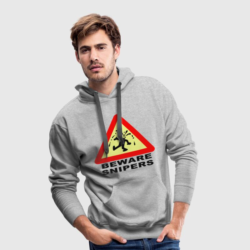 Blended grey Beware Snipers Jumpers - Men's Premium Hoodie