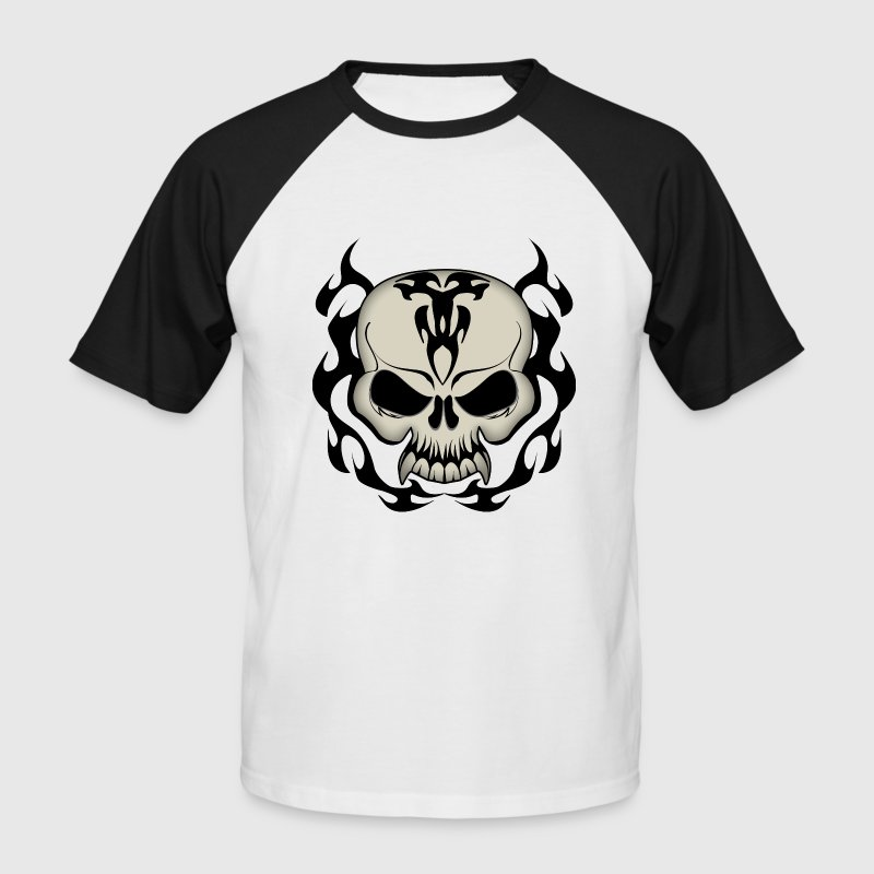 Tribal Skull - Men's Baseball T-Shirt