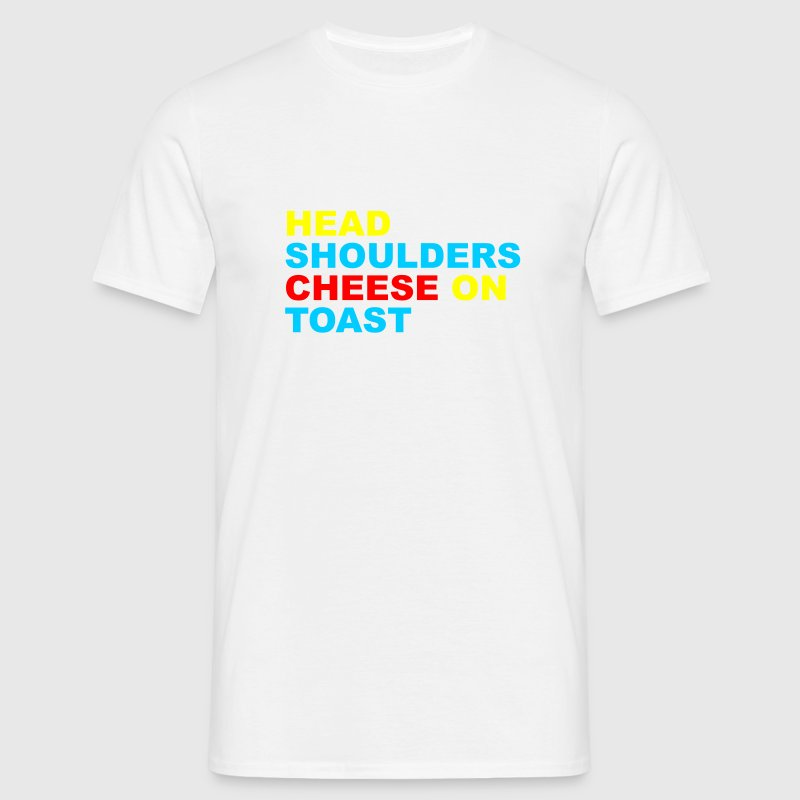 White Head, Shoulders, Cheese On Toast Men's Tees - Men's T-Shirt