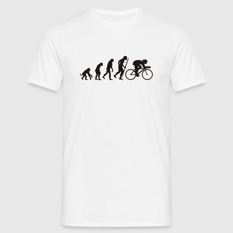 White Evolution of cycling Men's Tees - Men's T-Shirt