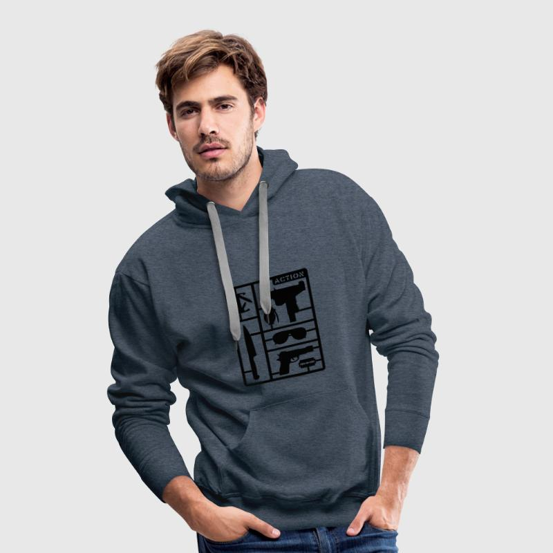 Green Action Man Jumpers - Men's Premium Hoodie