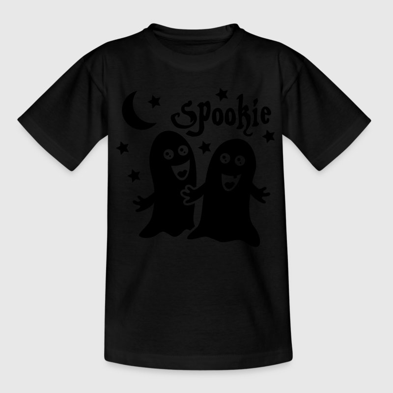 Zwart spookie spoken Kinder shirts - Teenager T-shirt